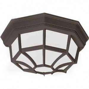 Maxim Crown Hill Series 2-Light Outdoor Ceiling Mount 1020BK