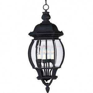 Maxim Crown Hill Series 4-Light Outdoor Hanging Lantern 1039BK