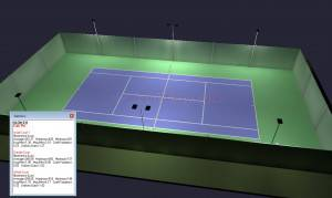 Outdoor Tennis Court LED Lighting & Pole Package 6 poles 8 fixtures (Outdoor Tennis Court)