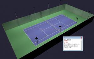 Outdoor Tennis Court LED Lighting & Pole Package 8 poles 8 fixtures HO Package ITF Class 1 Professional