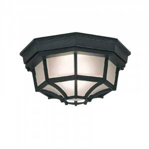 "Designers Fountain 2067-BK Builder Cast Aluminum 10"" Outdoor Flush Mount (Residential LED Fixtures)"