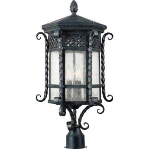 Maxim Scottsdale Series 3-Light Outdoor Pole/Post Lantern 30121CDCF