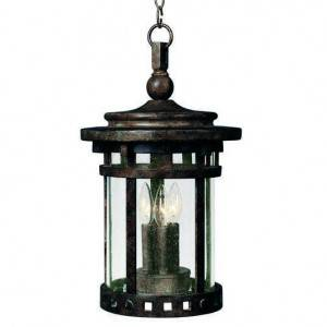 Maxim Santa Barbara Series 3-Light Outdoor Hanging Lantern 3138CDSE