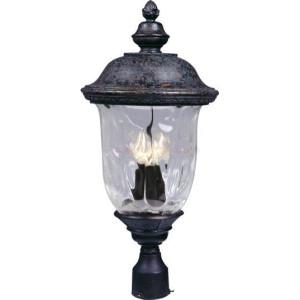Maxim Carriage House DC Series 3-Light Outdoor Pole/Post Lantern 3420WGOB