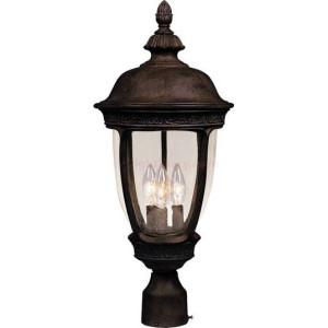 Maxim Knob Hill Series 3-Light Outdoor Pole/Post Lantern 3461CDSE