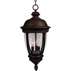 Maxim Knob Hill Cast Series 3-Light Outdoor Hanging Lantern 3468CDSE