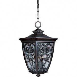 Maxim Newbury VX Series 3-Light Outdoor Hanging Lantern 40128CDOB