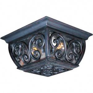 Maxim Newbury Series 2-Light Outdoor Ceiling Mount 40129CDOB