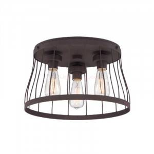 Designers Fountain 86821-BZ Brooklyn Collection 3-Light Flush Mount (Residential LED Fixtures)