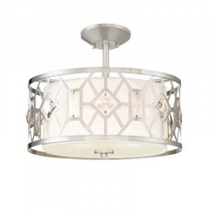Designers Fountain 90111-SP Brentwood Collection 2-Light Semi-Flush Mount (Residential LED Fixtures)
