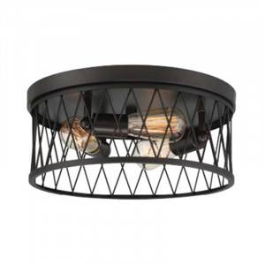 Designers Fountain 91123-VB Arris Collection 3-Light Flush Mount (Residential LED Fixtures)