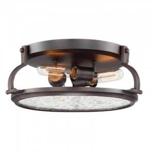 Designers Fountain 92123-SCB Eaton Collection 3-Light Flush Mount (Residential LED Fixtures)