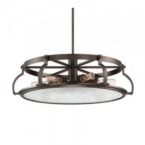 Designers Fountain 92186-SCB Eaton Collection 6-Light Chandelier (Residential LED Fixtures)