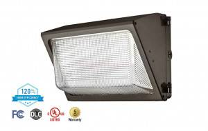 ASD WLP01-50NXX-PC LED Full Size Wallpack with Photocell 50W Bronze Finish