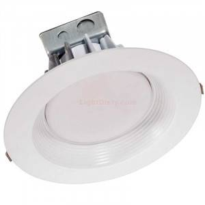 "Halco CDL8FR30/927/RTJB/LED 8"" LED Commercial Retrofit Downlight 30w 2700k, 120-277v White Baffle Trim 99618"