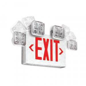 Emergi-Lite ELX400 SQL LED Series Red LED Thermoplastic Remote Capable Combination Units (Emergency)