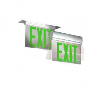 Emergi-Lite PAG6 Total™ Edge Series Greeb Double Face Surface Edge-lit Exit Sign AC Only  (Emergency)
