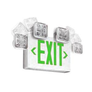 Emergi-Lite ELX400 SQL LED Series Green LED Thermoplastic Remote Capable Combination Unit
