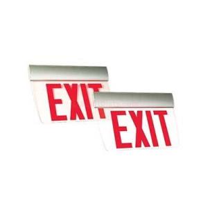 Emergi-Lite TAPE Prestige Economizer Series Slim Profile Surface Mount LED Edge-lit Exit Sign (Emergency)