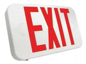 Howard Lighting Red Double Sided LED Exit Sign HL0301B2RW
