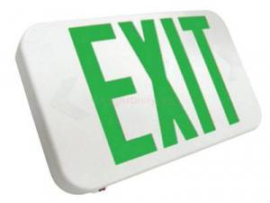 Howard Lighting Green Double Sided LED Exit Sign HL0301B2GW