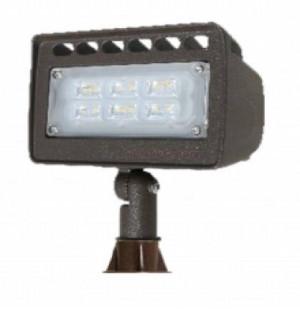 Westgate LF4-12V-6W Die-cast Aluminum 12 Volt 6 Watt LED Integrated Landscape Flood Light