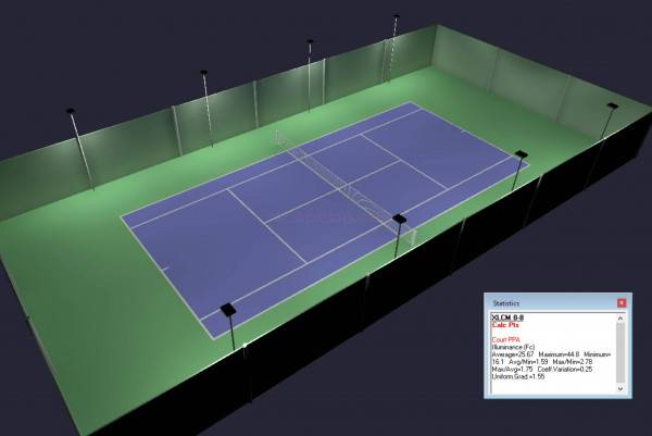 Outdoor Tennis Court Led Lighting Pole Package