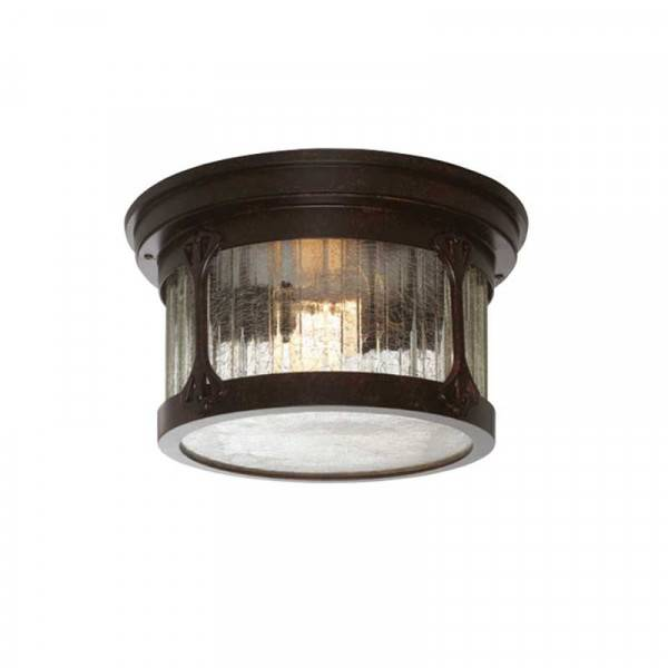 """Designers Fountain 20935-CHN Canyon Lake Collection 12"""" Outdoor Flush Mount (Residential LED Fixtures)"""