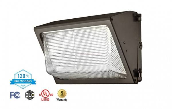 ASD WLP01-80DXX-PC LED Full Size Wallpack with Photocell 80W Bronze Finis