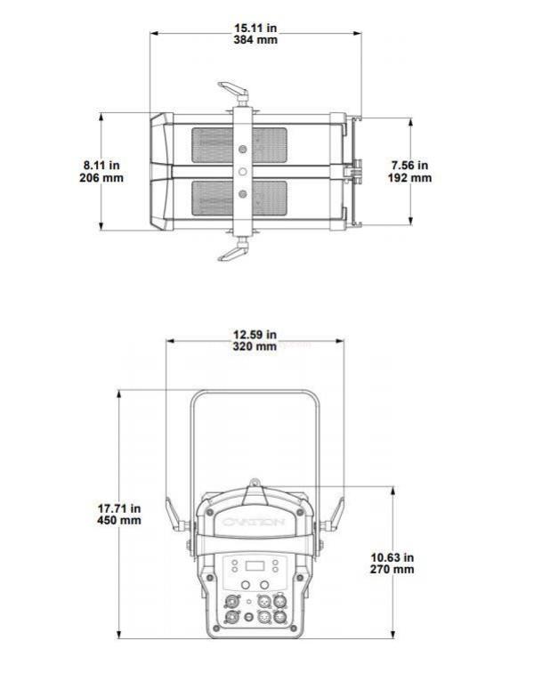 Chauvet Ovation F-265WW Warm White Fresnel Static Wash Fixture