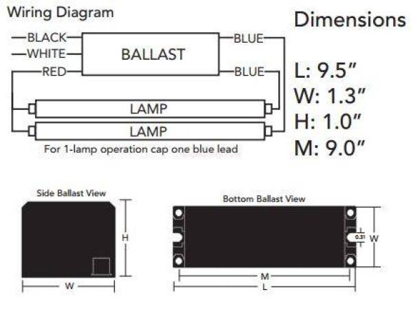 howard lighting 2 lamp t8 low factor high efficiency
