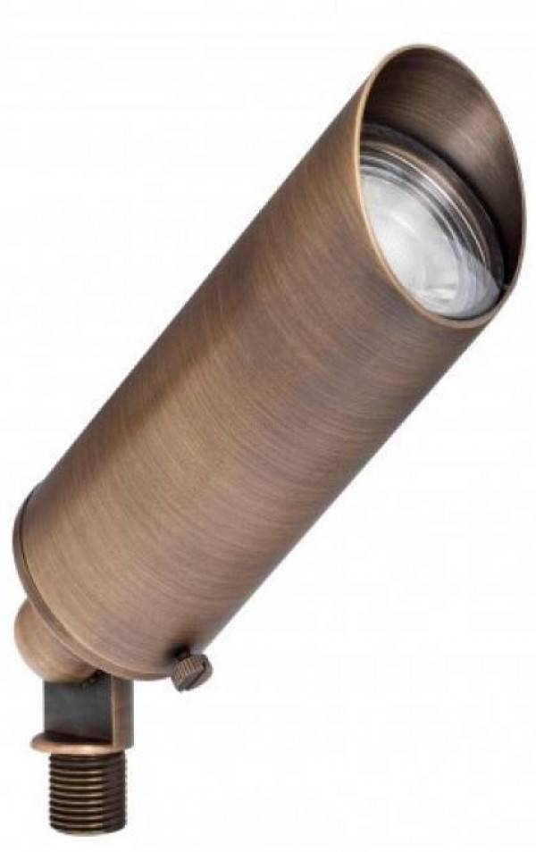 Cast Brass Directional Spotlight in Antique Bronze Finish W// 5 Watt LED