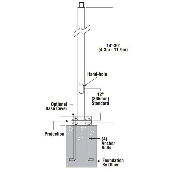 LSI Pole Builder for Steel Square Straight Poles